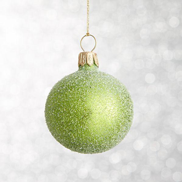 Apple Green Flurry Ball Ornament