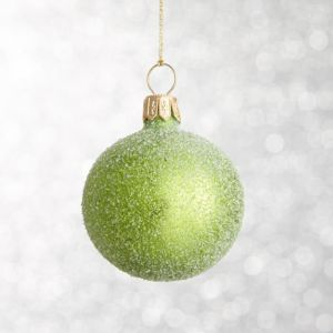 Apple Green Flurry Ball Ornament