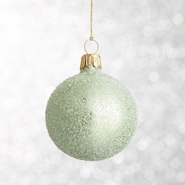 Light Green Flurry Ball Ornament