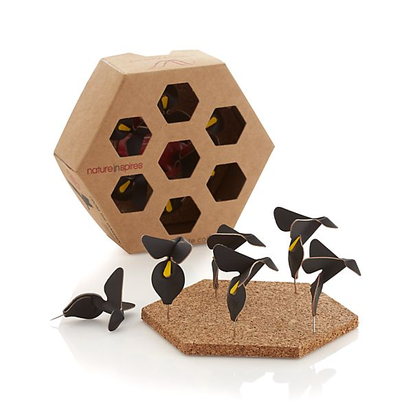 Flying Bee Leather Pins