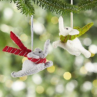 Flying Elephant Felt Ornaments