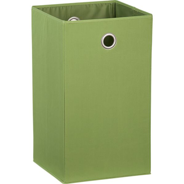 Green Folding Hamper with Grommet