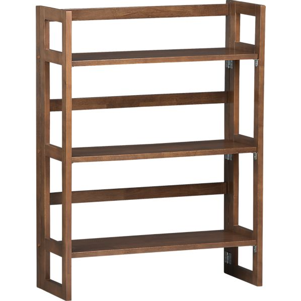 "Folding Walnut 28"" Bookcase"