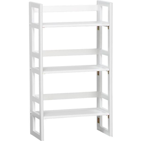 """White Folding 20.75"""" Bookcase"""