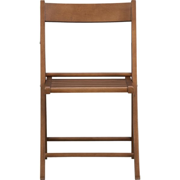 Folding Walnut Chair