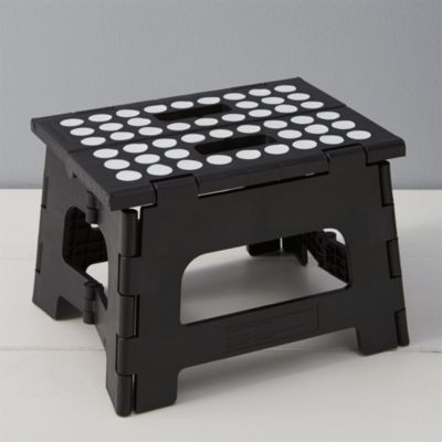 Folding Black Step Stool III