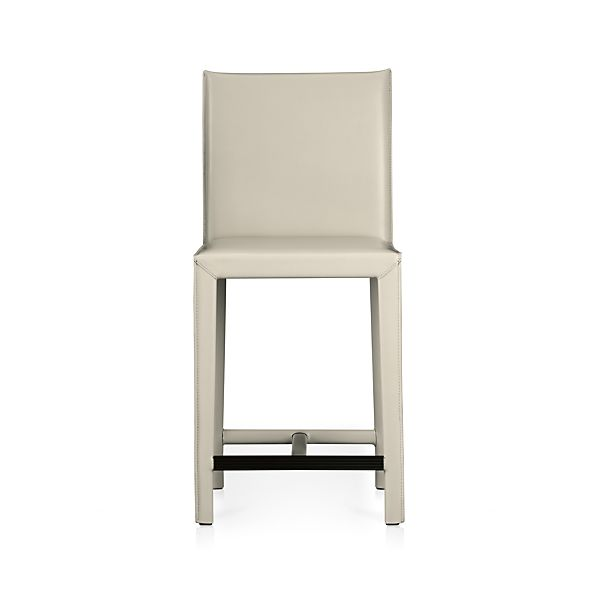 "Folio Oyster Bonded Leather 24"" Counter Stool"