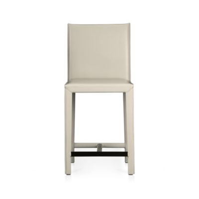 Folio Oyster Bonded Leather 24 Bar Stool