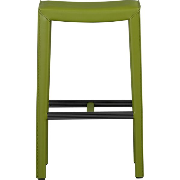 "Folio Kiwi Leather 30"" Backless Barstool"