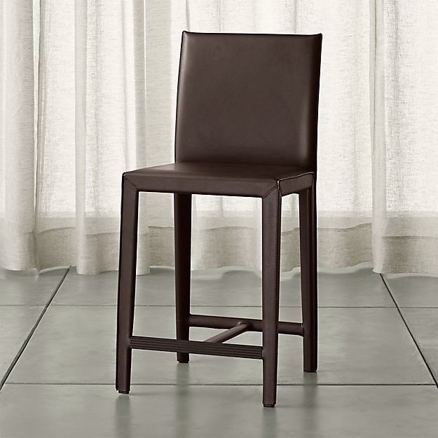Folio Chocolate Bonded Leather Counter Stool Crate And