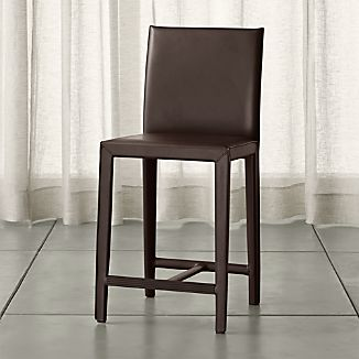 Folio Chocolate Bonded Leather Counter Stool