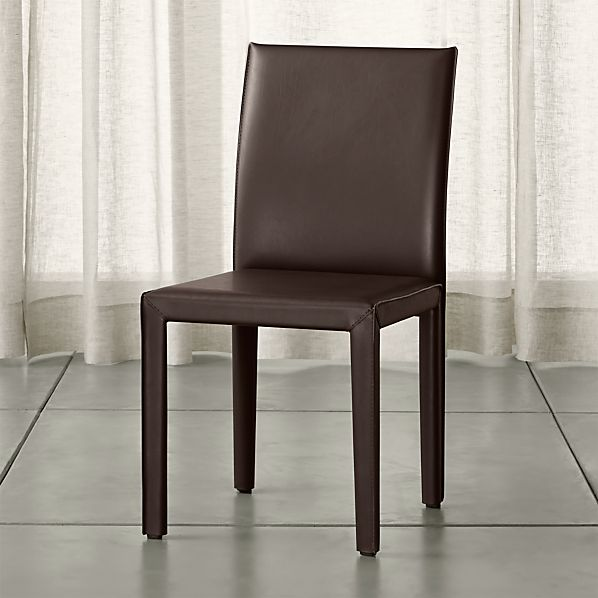 Folio Chocolate Bonded Leather Dining Chair