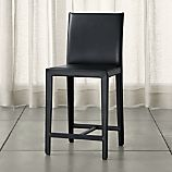 Folio Ebony Bonded Leather Counter Stool