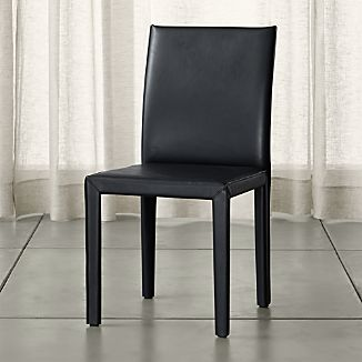 Folio Ebony Bonded Leather Dining Chair