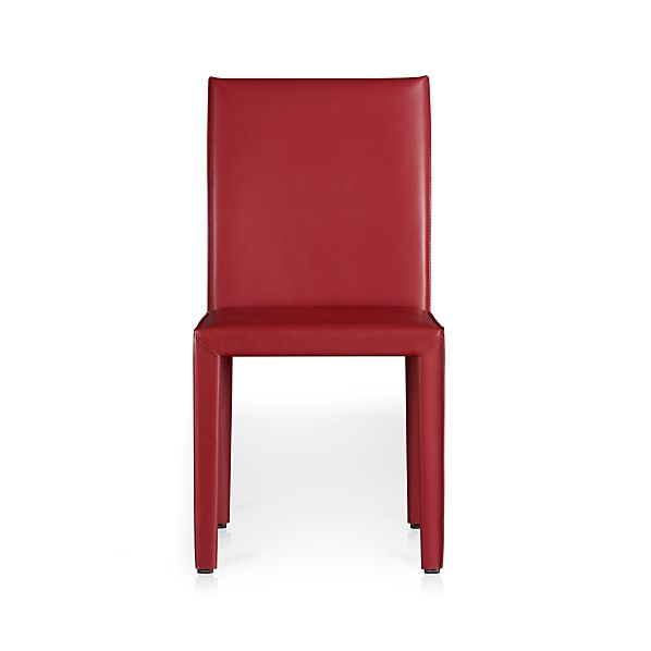 Folio Cherry Bonded Leather Side Chair