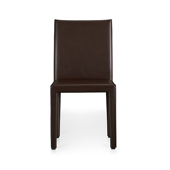 Folio Chocolate Bonded Leather Side Chair