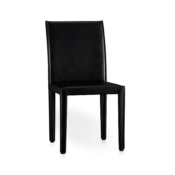 Folio Ebony Bonded Leather Dining Chair