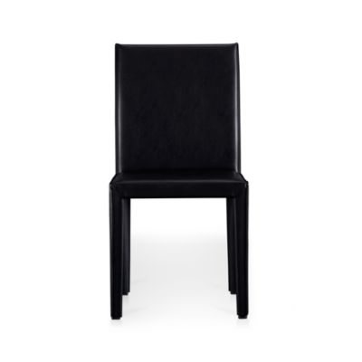 Folio Ebony Leather Side Chair