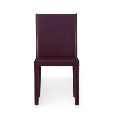 Folio Plum Leather Side Chair