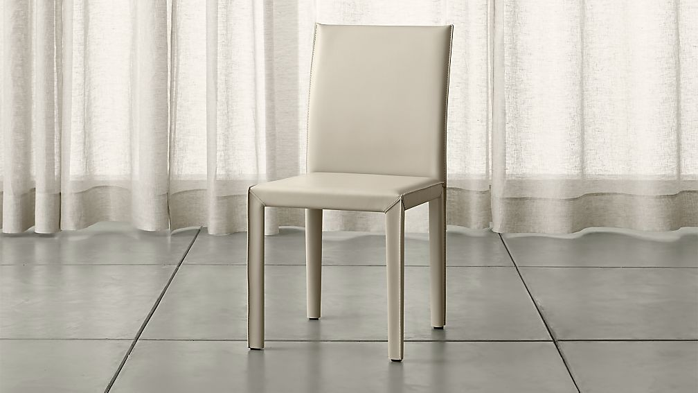 Folio Oyster Bonded Leather Dining Chair
