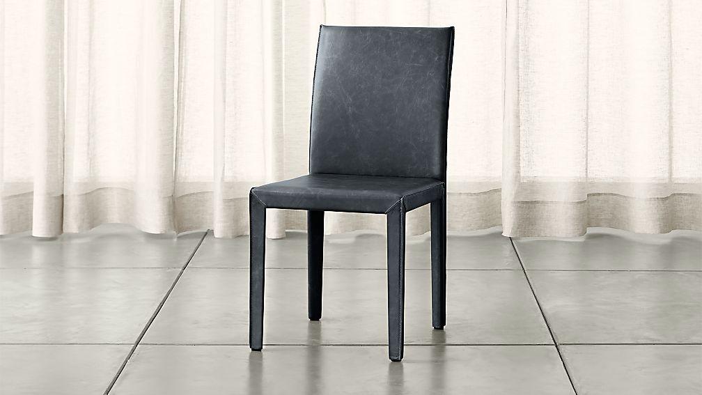 Folio Oceana Blue Top Grain Leather Dining Chair Allure