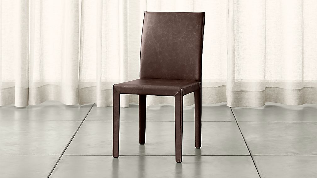 Folio Saddle Top Grain Leather Dining Chair Allure Saddle