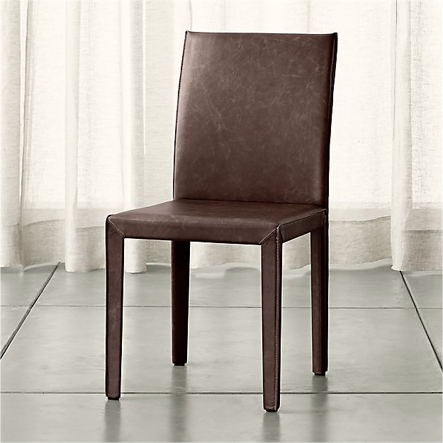 Folio Saddle Top-Grain Leather Dining Chair