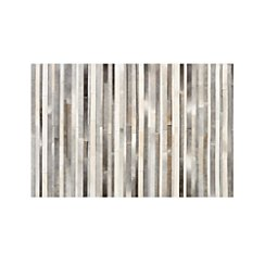 Fonda Grey Striped Cowhide 6'x9' Rug