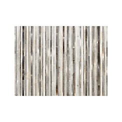 Fonda Grey Striped Cowhide 9'x12' Rug