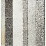 "Fonda Grey Striped Cowhide 12"" sq. Rug Swatch"