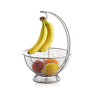 Footed Basket with Banana Hanger