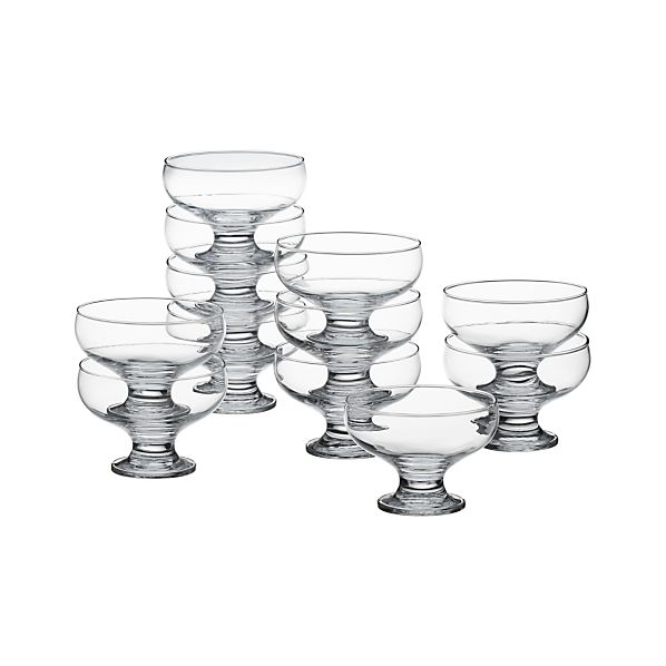 Set of 12 Footed 10 oz. Dessert Dishes