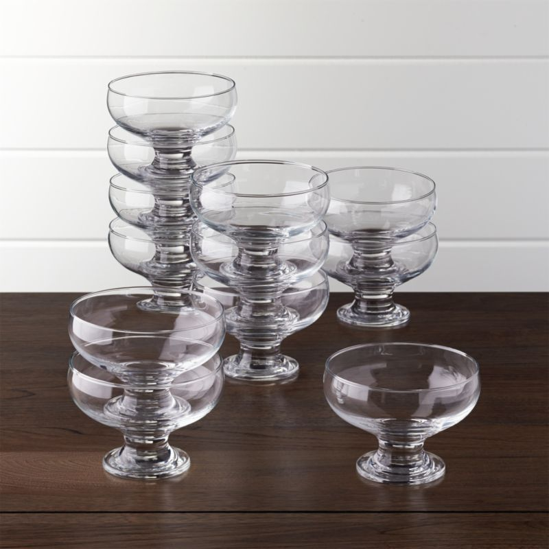 Set Of 12 Footed 10 Oz Dessert Dishes Crate And Barrel