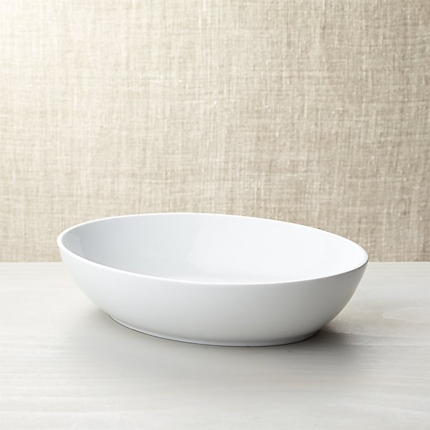 Form Large White Oval Serving Bowl Crate And Barrel