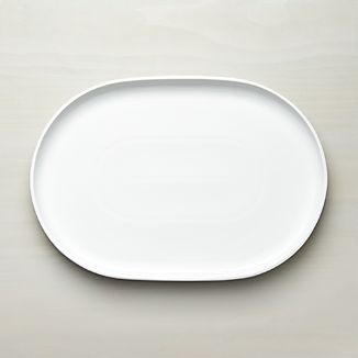 Form White Oval Serving Platter
