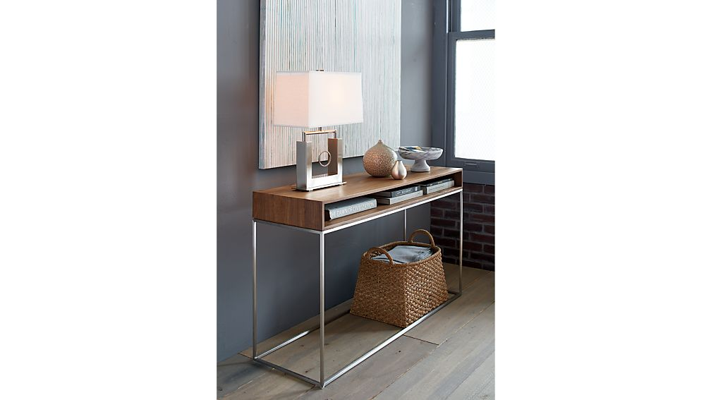 Console Tables With Picture Frames ~ Frame console table crate and barrel