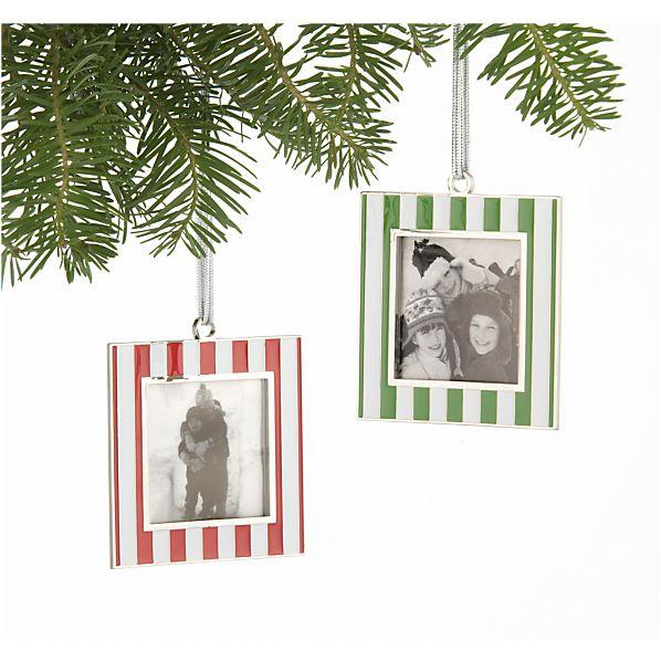 Set of 2 Frame Ornaments
