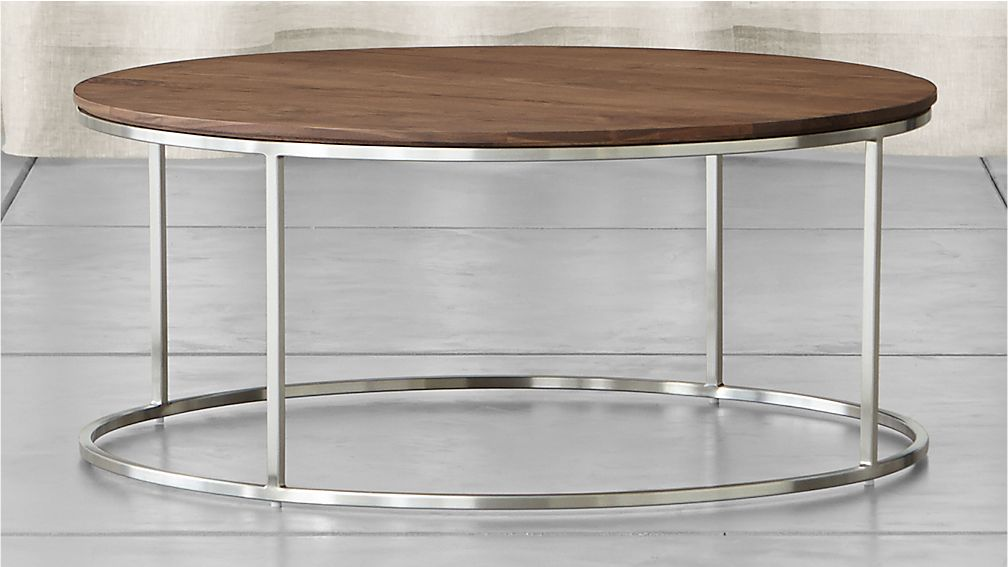 Frame Round Coffee Table In New Furniture Crate And Barrel