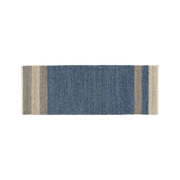 Fraser Blue 2.5'x7' Runner