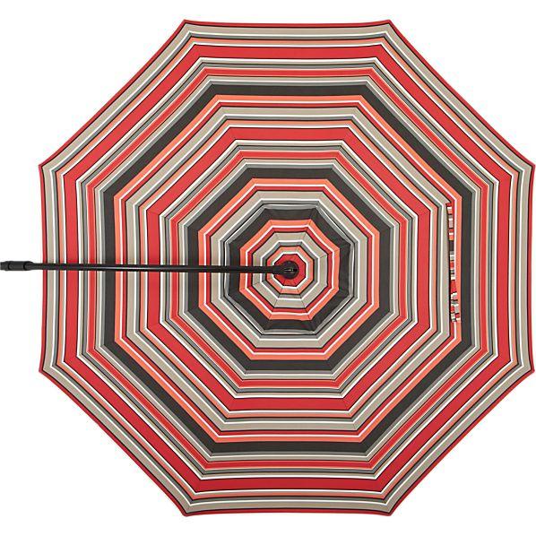 10' Round Sunbrella ® Red Multi Stripe Umbrella Canopy