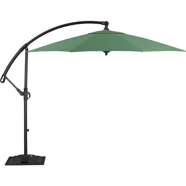 10' Round Sunbrella ® Bottle Green Free-Arm Umbrella with Base