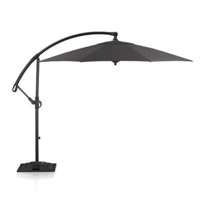 10' Round Sunbrella® Charcoal Free-Arm Umbrella with Base