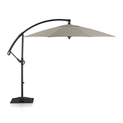10 Round Sunbrella® Stone Free-Arm Umbrella with Base