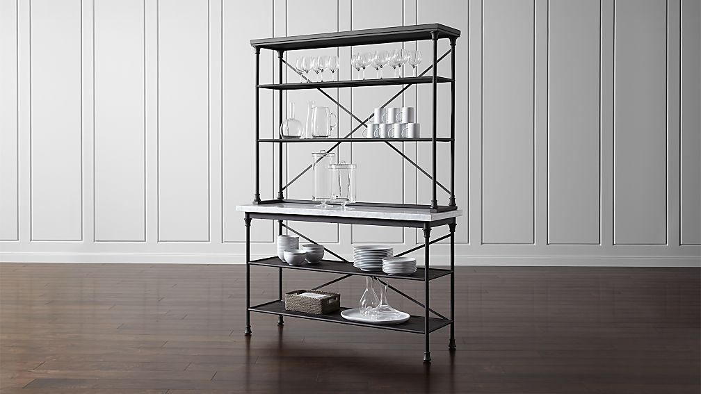 French Kitchen Bakers Rack With Hutch Crate And Barrel