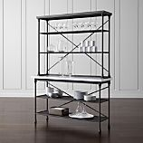French Kitchen Bakers Rack with Hutch