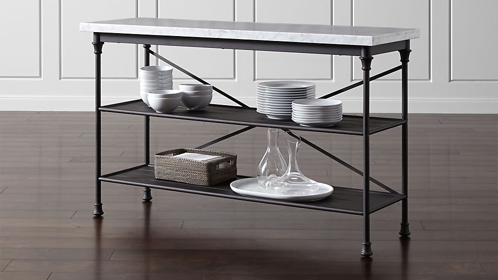 Kitchen Table And Bakers Rack