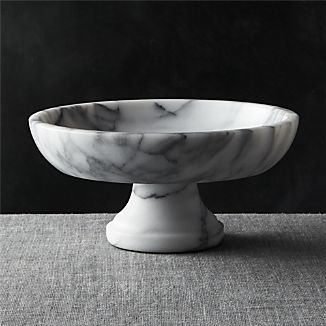 French Kitchen Marble Fruit Bowl
