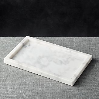 French Kitchen Marble Rectangle Tray