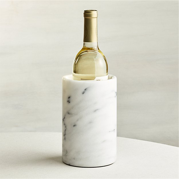French kitchen marble wine cooler crate and barrel for Decor wine cooler