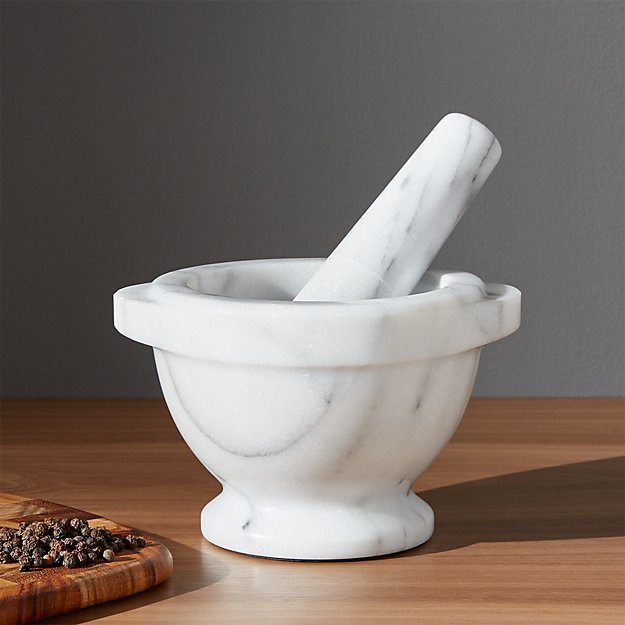 French kitchen marble mortar and pestle crate and barrel Motor pestle